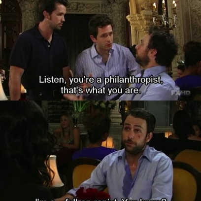 charlie always sunny blind date It's always sunny in philadelphia is an american television sitcom on fx it moved to fxx beginning with the ninth season the series follows the exploits of the gang, a group of self-centered friends who run the irish bar paddy's pub in south philadelphia.