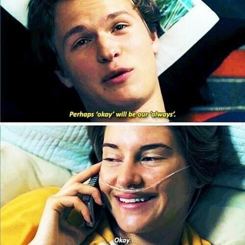 Movie Clip Quotes: From The Movie The Fault In Our Stars Quotes Okay. QuotesGram
