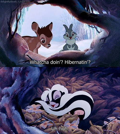 Come Out And Play Meme: Flower Hibernates While Bambi & Thumber Want Him To Come