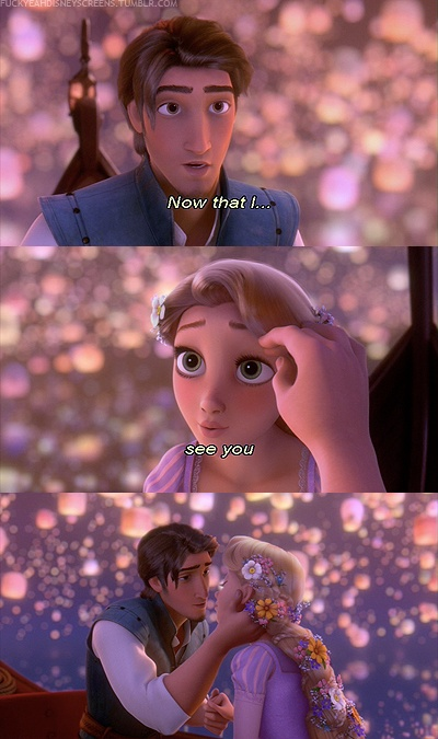 Flynn Rider Pays Attention To Rapunzel S Face Instead Of
