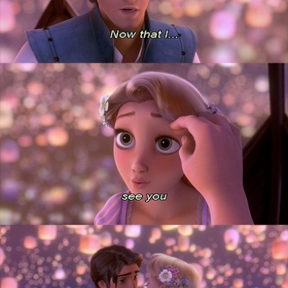 Flynn Rider Pays Attention To Rapunzel S Face Instead Of Her Golden Hair In Disney S Tangled