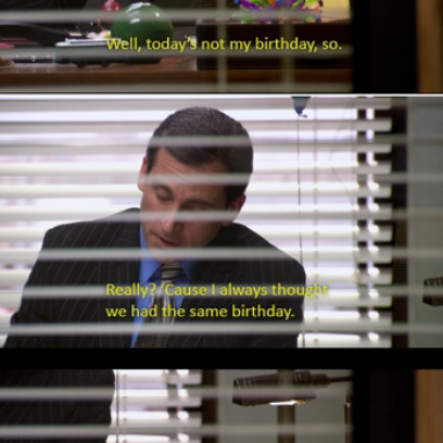 Happy Birthday The Office Michael Scott Michael Scott Gets Happy