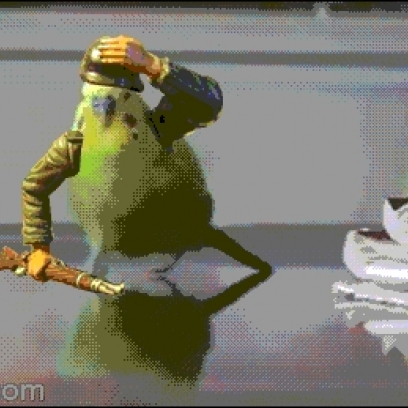 ... Parrot Soldier Runs Away From An Explosion In Epic Animated Gif Gif Running Away From Explosion Gif