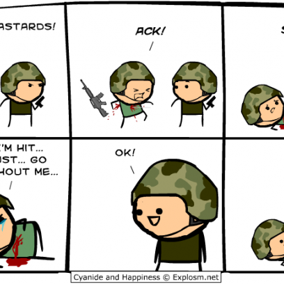 Soldier Has Never Been One For Sappy Moments In War Comic