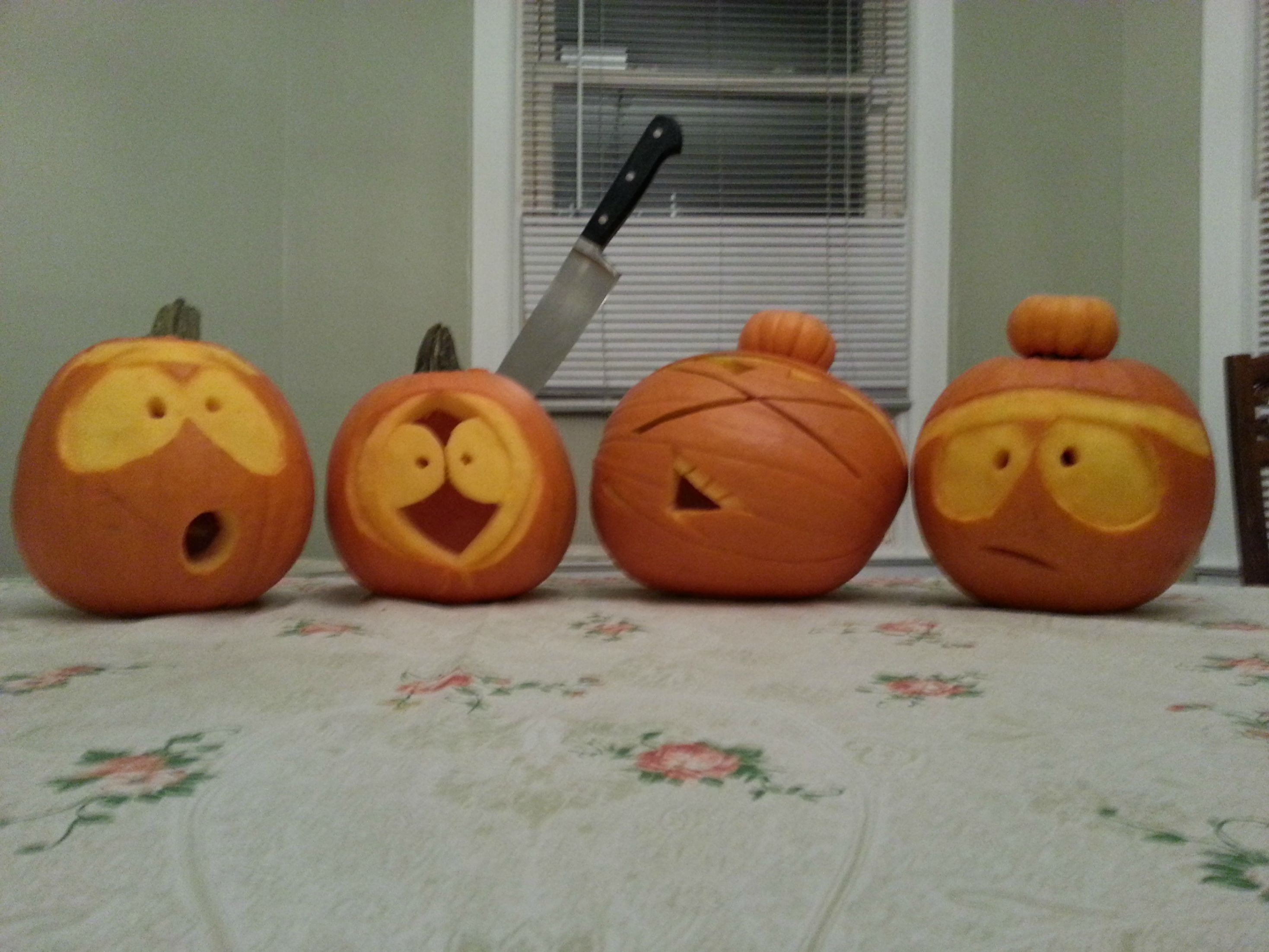 South Park Characters As Halloween Pumpkin Heads