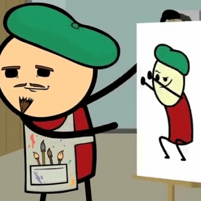 The art of getting down artist in cyanide amp happiness gif