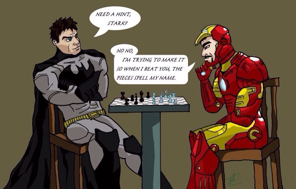 supermanand batman play chess - photo #19