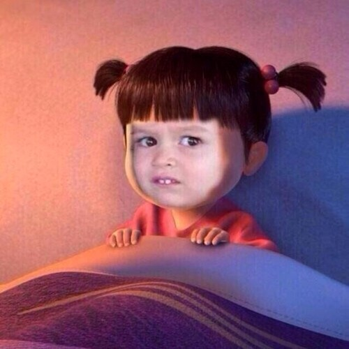 Funny Kid Face Meme : Unimpressed chloe is boo from monster s inc