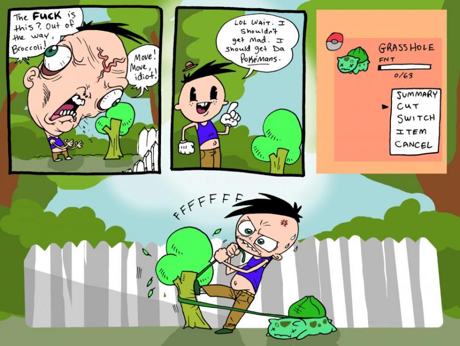 Using Bulbasaur S Trusty Cut Technique To Get Passed The Road Block In Comic By Jhallcomics