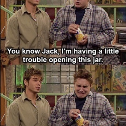 Eric Questions His Strength After Failing To Open a Can He Mistakes For a Jar On Boy Meets World_408x408 zoidberg is learning how to be a crafty consumer of products on