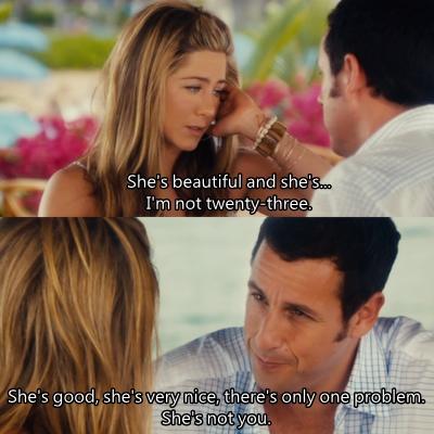 Adam Sandler Falls In Love With Jennifer Aniston At The End