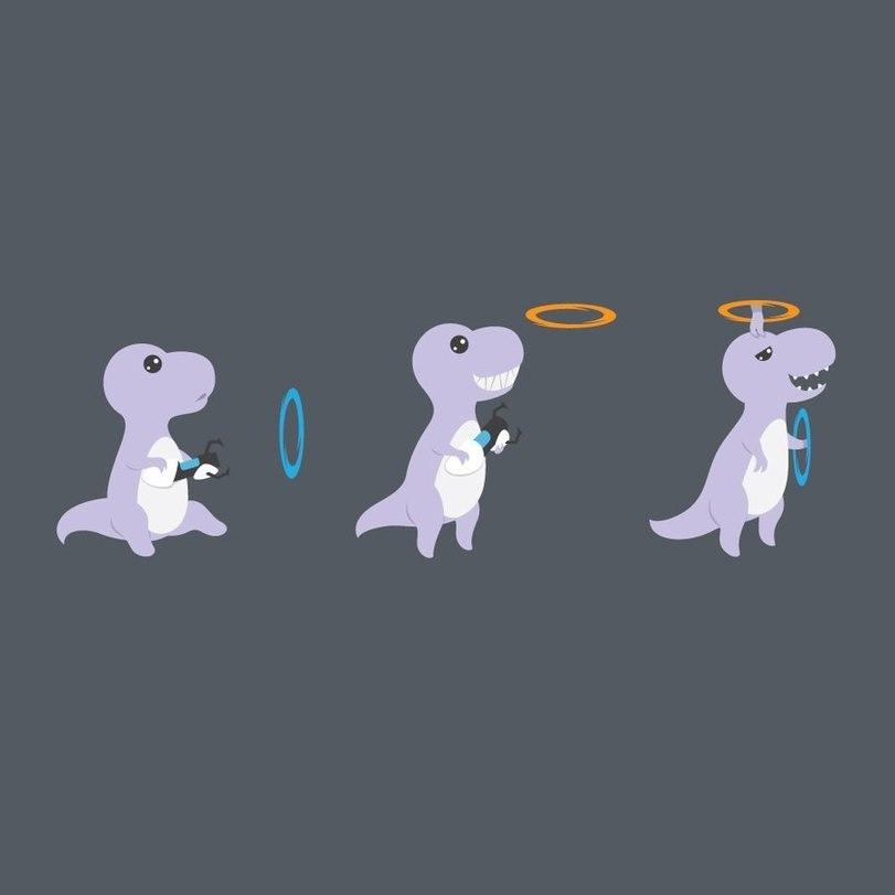 Baby T-Rex Genius Creates a Portal For Some TLC