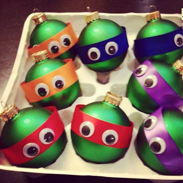 Ninja Turtle Christmas Tree.Cool Teenage Mutant Ninja Turtles Christmas Tree Orinments