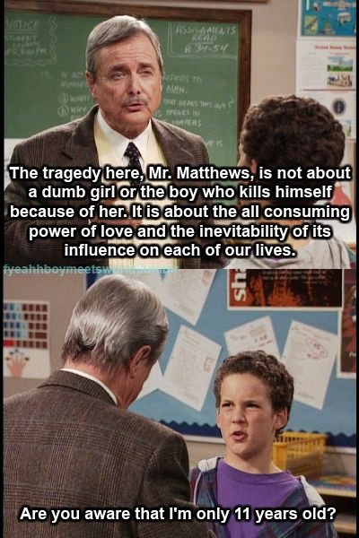 Mr. Feeny Explains Why Romeo and Juliet Is Such a Powerful ...