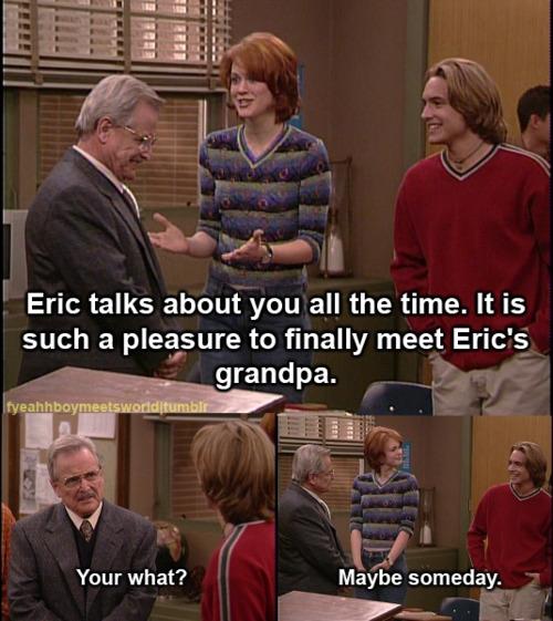 Mr. Feeny Is Eric Matthew\'s Grandpa On Boy Meets World