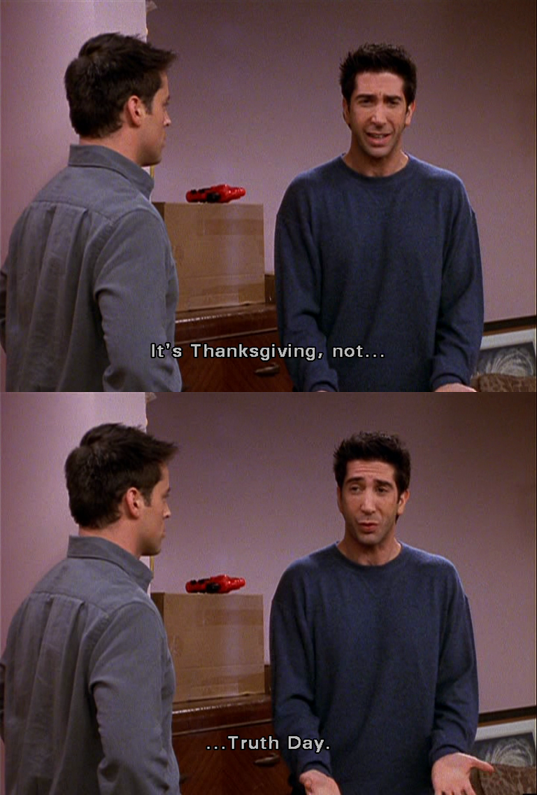 Ross Is Tired Of The Truth and Just Wants To Be Thankful ...