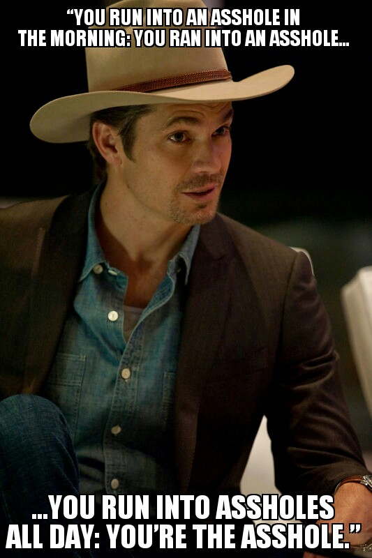 Timothy Olyphant On Encountaring People Through Out The Day On Justified