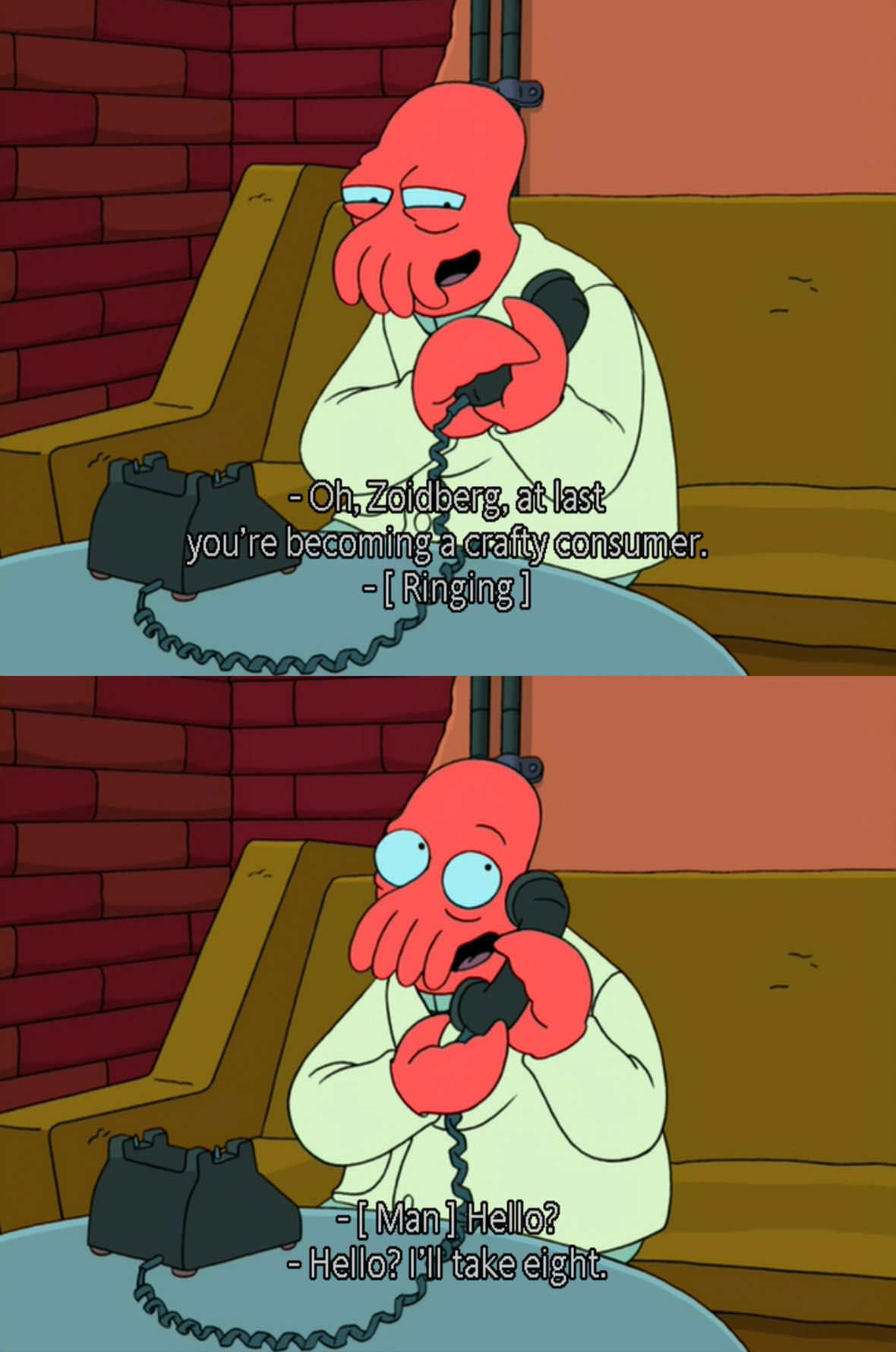 Zoidberg Is Learning How To Be A Crafty Consumer Of Products On The