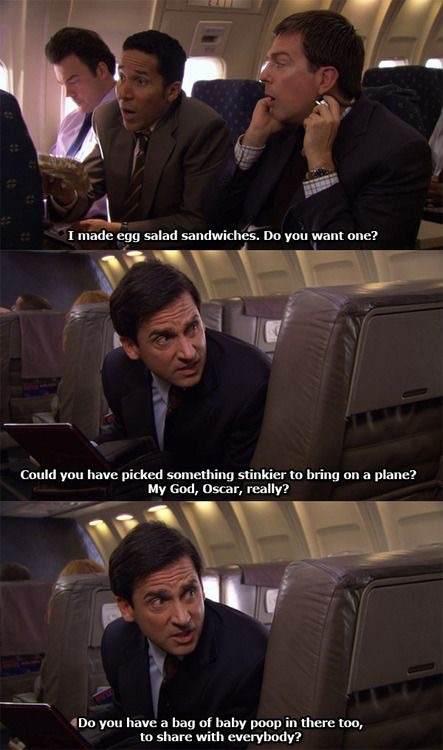 Michael Scott Makes Fun Of Oscar For Bringing Stinky Egg Salad ...